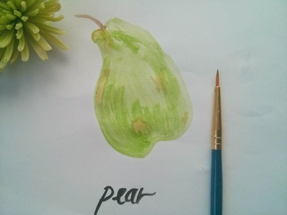 pearwatercolor